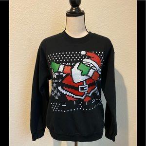 Dabbing Santa Ugly Christmas Sweater Sweatshirt